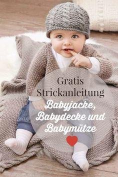 Heute gibt es gleich drei kostenlose Strickanleitungen, nämlich für eine zuckerhübsche Babydecke, eine Babymütze und eine Babyjacke. Kurz gesagt: Du kannst ein komplettes und total niedliches Babyoutfit nach diesen kostenlosen Strickanleitungen zaubern. Egal, ob du gerade Mama oder Oma wirst. Oder natürlich Tante, Patentante, Opa, Opa nicht zu vergessen, das ist sichet was für dich.