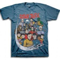 Star Trek Comic Book Style Group Adult T-shirt (Medium) Comic Book Style, Comic Books, Star Trek Clothing, Men's Clothing, Star Trek Store, Star Trek Merchandise, Star Trek Collectibles, Comic Styles, Tee Shirts