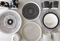 Marimekko, Scandinavian Style, Plates, Cooking, Tableware, Home Decor, Handmade Pottery, Home, Porcelain Ceramics
