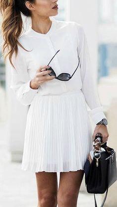 17 Ideas para llevar un look totalmente blanco