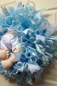 Baby Boy WreathBaby Boy Birth Announcement by CherylsCrafts1