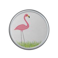Cuban Pink Flamingos Bluetooth Speaker