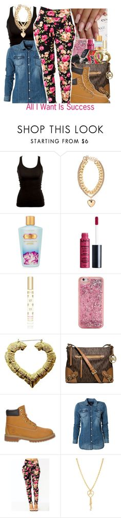 """""""All I Want Is Success 💗🙌🏽"""" by perfectlyjayx ❤ liked on Polyvore featuring By Malene Birger, Victoria's Secret, ban.do, Michael Kors, Timberland, Replay and Juicy Couture"""