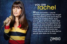 http://www.zimbio.com/quiz/vyOtpUiLfw4/Which+Glee+Character+Are+You GUYS DO THIS QUIZ AND TELL ME WHAT YOU GOT.I GOT RACHEL!!
