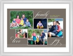 Family Sentiments Framed Print, White, Classic, Cream, White, Single piece, 24 x 36 inches, Brown