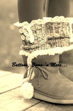 Adorable!Boot toppers. $20.00, via Etsy.
