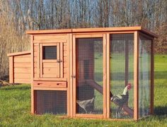 Chicken-Coop-House-Hen-Poultry-Nesting-Box-Chick-Wooden-Cage-With-Outdoor-Run