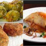 5 Νηστίσιμα φαγητά που πρέπει να δοκιμάσεις!   ediva.gr Squid Dishes, Appetisers, Baked Potato, Mashed Potatoes, Turkey, Food And Drink, Tasty, Sweets, Diet