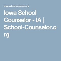 Exceptional Iowa School Counselor   IA | School Counselor.org · Career CounselingSchool  CounselorIowaCounsellingCareer Advice