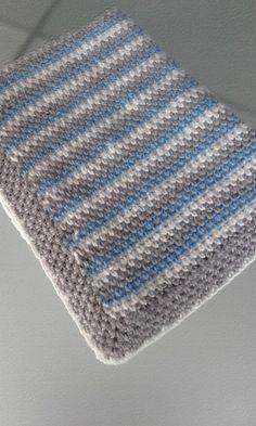Mantas de ganchillo para bebé - Blog de Costurea Crochet Baby Blanket Free Pattern, Newborn Crochet Patterns, Crochet For Beginners Blanket, Baby Afghan Crochet, Sewing Patterns Free, Pattern Sewing, Crochet Blankets, Baby Blankets, Crochet For Boys