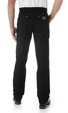 Wrangler Men's 13MWZWK Original Cowboy Cut Jeans - Shadow Black -- For a casual wedding | SouthTexasTack.com #Wrangler