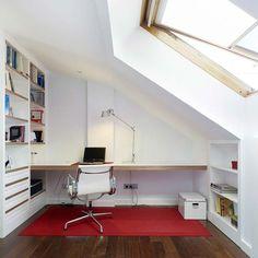 Ideas home office design loft window Home Office Design, Home Office Decor, Home Design, Interior Design, Office Ideas, Design Ideas, Attic Renovation, Attic Remodel, Attic Loft