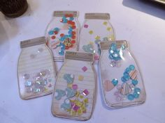 "Super sweet mason jar embellies from ""Tracy Creates: Handcrafted embellishments"""
