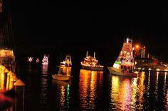 Nautical Night of Lights! #boatparade #lulus #gulfshores #christmaslights