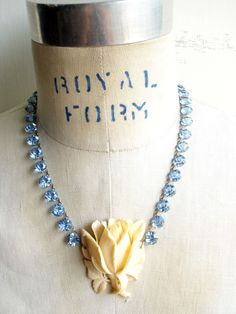 Moonlight & Roses Repurposed Necklace, Paula Montgomery