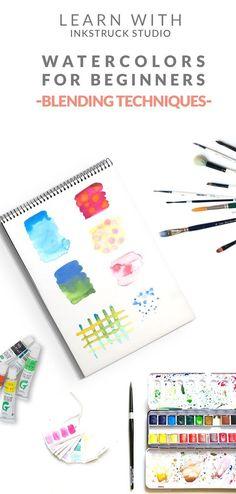 Watercolor techniques for beginners-Blending|Zakkiya Hamza of Inkstruck Studio