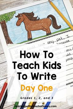 Looking for ideas to teach kids how to write? Get kids writing with sticky note pet stories. A step-by-step lesson plan is included. This writing activity is perfect for Grade 1, 2, and 3 students. Your students will be excited to complete the sticky note stories. CLICK to check out this blogpost and get your students writing.