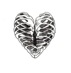 hipsters hipster love heart hearts skeletons skeleton bones bone sketch art artistic drawing drawings sketches rib cage