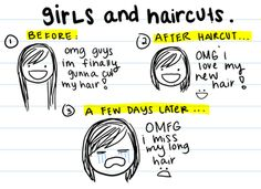 I think we've all been here before.  Got a new hair cut.  Then hated it!  Thank goodness for hair extensions!
