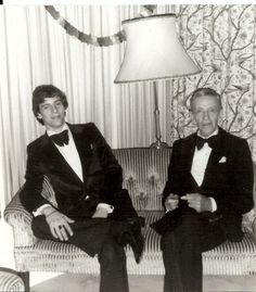 Tyler McKenzie, son of Ava Astaire, with grandpa, Fred Astaire
