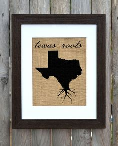 Texas Roots Wall Art Custom Wall Art Know your by fiberandwater. , via Etsy.