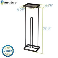 BEST Toilet Paper Holder - with 5 Star Rating + Lifetime Guarantee | Japanese Design - Stores 3 X Toilet Rolls - Solid Metal Construction with Square Base for Balance - Unique Special Tray Top Design | Ships today with Amazon.com Best Toilet Paper, Bath Towel Racks, Rolled Paper, Star Rating, Japanese Design, Kitchen Towels, Wood Pallets, Bathroom Accessories, Wood Projects