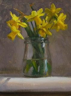 Daily paintings | Daffodils in a jar | Postcard from Provence, Julian Merrow-Smith