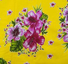 Ebay - 100% Cotton Floral Print Yellow Designer Sewing  Fabric  Craft   By The Yard