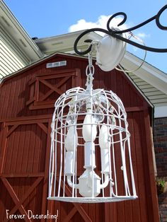 Forever Decorating!: Just the cutest birdcage chandy!