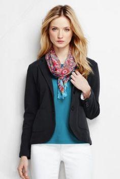 Women's Double Knit Blazer from Lands' End