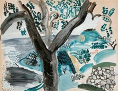 Artwork by Raoul Dufy, Arbre à Taormina, Made of gouache and watercolor on paper