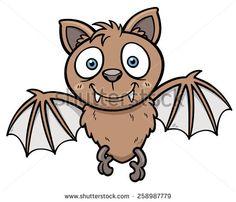 Vector illustration of Cartoon bat - stock vector