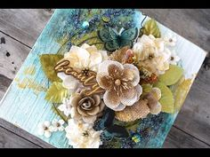 Mixed Media Collage Canvas with Cari Fennell on Live with Pr - YouTube