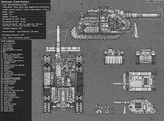 Warhammer 40000 Destroyer tank hunter (art by Gray Skull) Warhammer Art, Warhammer 40k Miniatures, Warhammer 40000, Warhammer Fantasy, 40k Imperial Guard, Military Drawings, Wolfenstein, The Grim, Star Wars Art