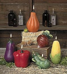 Vegetable Candles