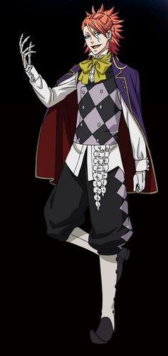 Anime: Kuroshitsuji (Black Butler) Character: Joker  Season 3: Book of Circus <3