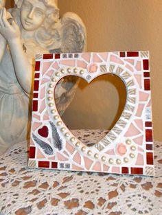 Heart Mosaic, Heart Frame Mosaic, https://www.facebook.com/Heart2HeartMosaics  #heartframemosaic #heart2heartmosaic #hearttoheartmosaic #cindyharris