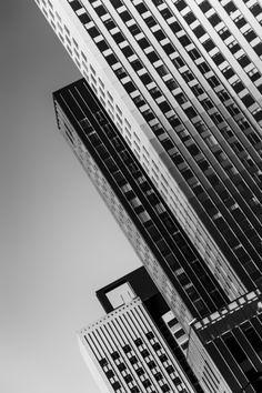 Rotterdam, Low Key, Home Deco, Vintage Posters, Skyscraper, Multi Story Building, Art Prints, Black And White, Ligne Roset