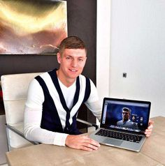 "My new website is online! At http://toni-kroos.com you will find a lot of information about me and my career. Quite interesting is the section ""Toni live"" with constantly updated information during the Games. Have a look at it and send me your feedback via Facebook or Twitter with the hashtag #tonilive. Keep your fingers crossed for tonight! Hala Madrid! Toni. 4.11.14"