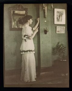 Autochromes of Women around the World, ca. 1915, photo by Helen Messinger Murdock, artist and photographer who traveled around the world. This is a hotel Proprieter