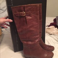 Never worn- INTYCE boots- Steven by Steve Madden Never worn, size 6. In perfect condition and comes with box. $140 shoes! Steve Madden Shoes Winter & Rain Boots