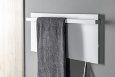 ELMIS elektrický sušák ručníků 600x300mm, 80W, bílá mat : SAPHO E-shop Radiators, Towel, Bathroom, Shopping, Washroom, Radiant Heaters, Full Bath, Bath, Bathrooms