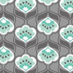 """Stoff grafische Muster - Designerstoff """"Mint Condition"""" USA - ein Designerstück von Stoffaholik bei DaWanda"""