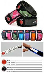 Child medical alert bracelet...can attach to carseat strap, backpack, child, etc.
