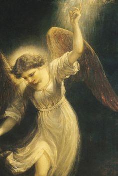 "Detail from ""Mercy's Dream"" 1858, by Daniel Huntingdon."