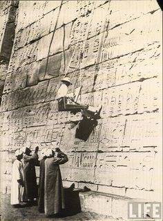 Old Photo - Working at the Pyramids