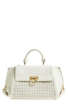 Salvatore Ferragamo 'Sofia' Leather Satchel available at #Nordstrom