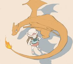 Blue and Charizard