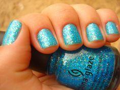 azure blue with diamond sparkle :)