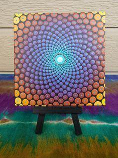 Mandala de geometría sagrada punto Mandala arte por Kaila